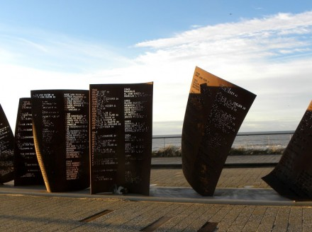 Memorial near the sea
