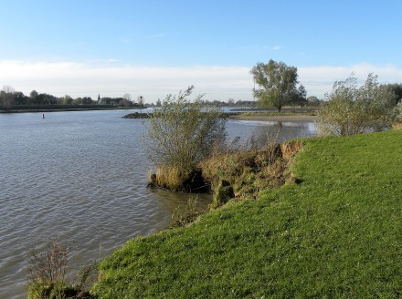 The river Lek near IJsselstein