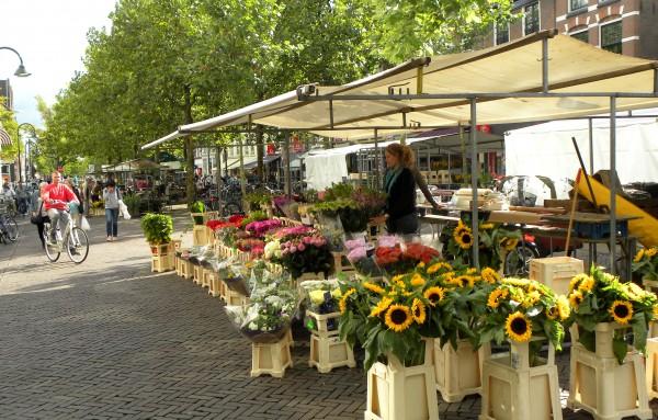 Blumenmarkt in Delft