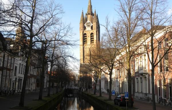 De oude kerk van Delft