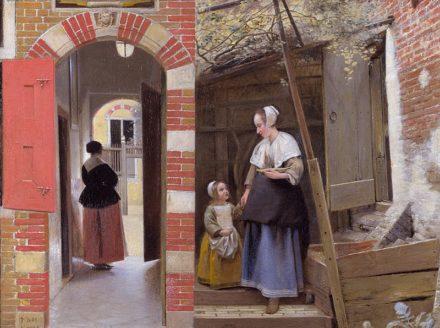 Pieter De Hooch: binnenplaats in Delft