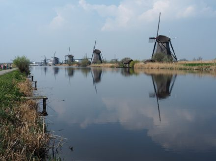 The windmills of Kinderdijk an Unesco Worldsite
