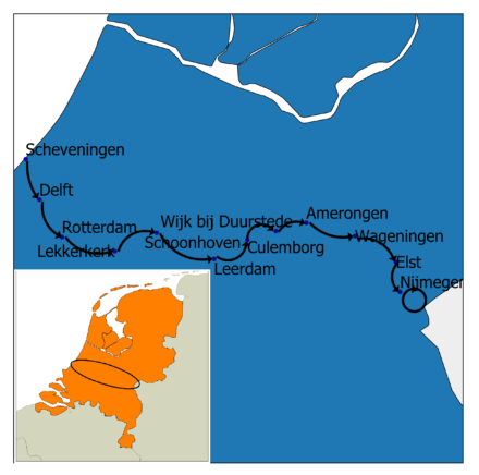Totale wandelroute dwars door Nederland